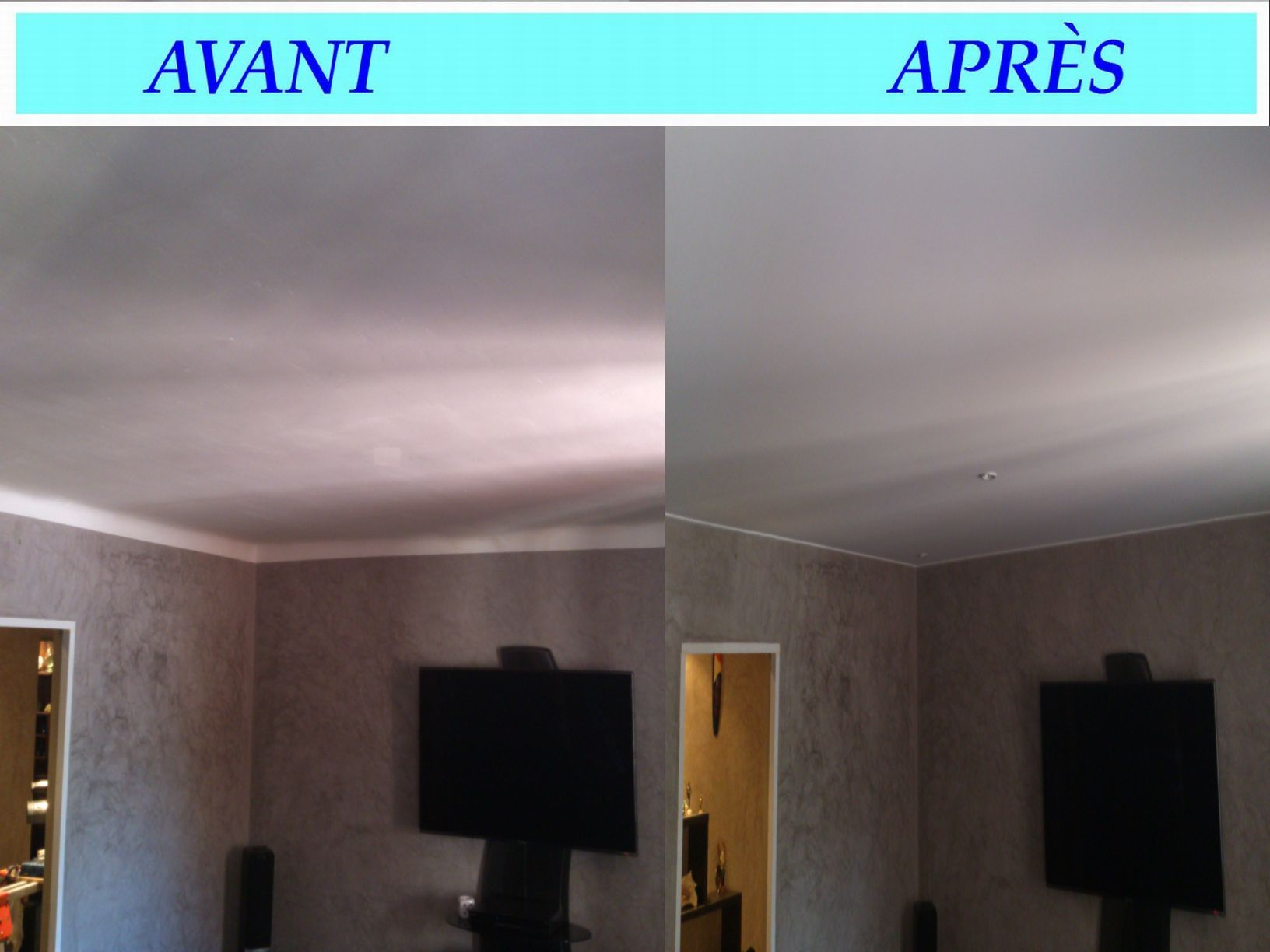 Plafond suspendu tendu salon accueil design et mobilier for Faux plafond tendu