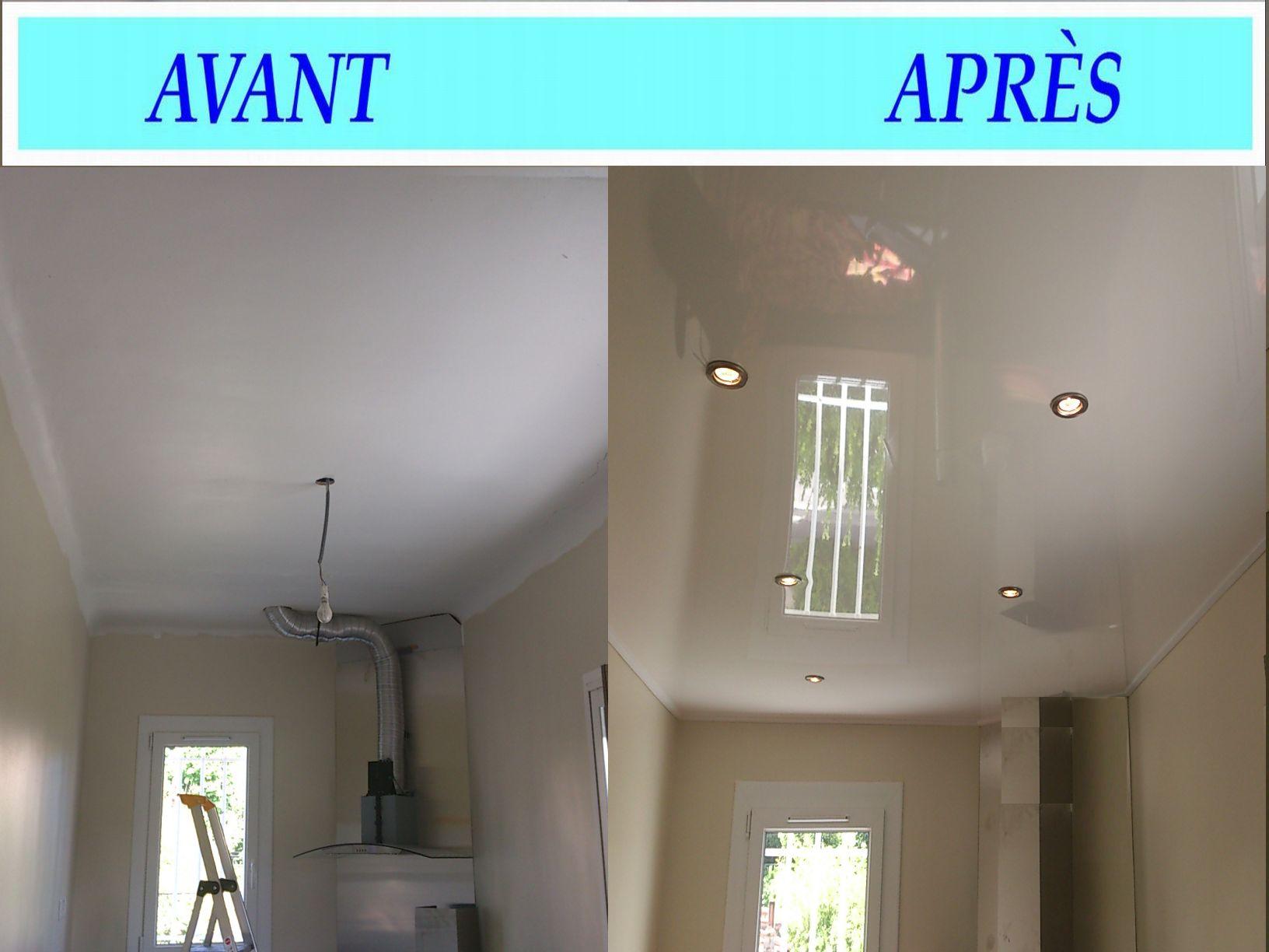 Peinture plafond cuisine cuisine bois moderne qui se for Peinture faux plafond